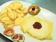 Vyprážané kuracie prsia s pomarančovo-brusnicovou omáčkou - Kuracie prsia na kari omáčke s brokyňami a   mandľami - Zape