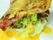 Bravčové pečené s bylinkovou kašou - recept na šťavnaté bravčové pečené so zemiakovou  kašou s bylinkami