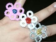 Prstienky z drôtu v tvare kvetov - ako vyrobiť drôtené prstienky  v tvare kvetov