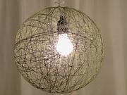 Lampa zo špagátu - ako si vyrobiť  šnúrkovú lampu