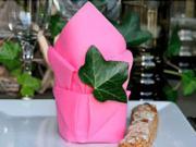Ružový obrúsok - Ako poskladať obrúsok na stolovanie