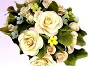 Kvety z marcipánu - ozdobné dekorácie z kvetov