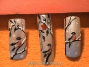 Zimná téma - gelové nechty