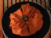 Obrúsok v tvare tekvice - skladanie obrúskov