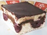 Višňový koláč Dunajské vlny - recept na kakovo - višňový koláč