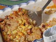 Zapečená pohánka - recept na zapečenú pohánku so zemiakmi a udeným mäsom