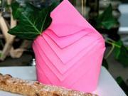 Obrúsok v tvare cylindra - ako poskladať obrúsok do tvaru cylindra
