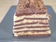 Čokoládově smetanové řezy - recept na mražené čokoládově-smetanové řezy