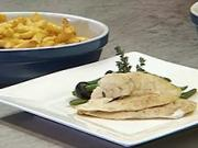 Filety na olivách - recept na pečené filety z tresky na olivách a zelených fazulkách