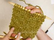 Pletení - košíkový vzor