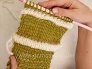 Pletenie - naberaný vzor - štrikovanie