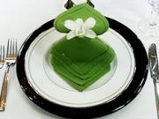 Obrúsok v tvare vodopádu - ako poskladať obrúsok do tvaru vodopádu