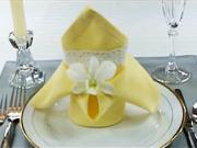 Obrúsok v tvare ľalie - ako poskladať obrúsok do tvaru ľalie