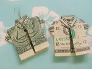 Ako poskladať peniaze do tvaru košele