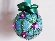 Tyrkysová vianočná guľa - ako urobiť tyrkysovú guľu