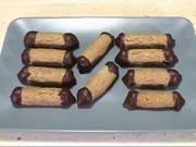 Orechové trubičky - recept na orechové trubičky plnené čokoládovým krémom