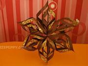 Vánoční hvězda z barevného papíru - jak poskládat hvězdu z papíru