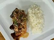Losos na zázvoru - recept na lososa na zázvoru s jasmínovou rýží