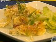 Zapekané zemiaky s lososom - recept na gratinované zemiaky s udeným lososom