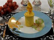 Obrusok v tvare sviecky - ako poskladať obrúsok do tvaru sviečky