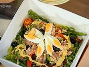 Zeleninový šalát s tuniakom - recept na tuniakový šalát s pestrou zeleninou