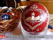 Kraslice - zdobenie vajíčok slamou