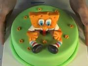 Spongebob torta - ako vyzdobiť tortu
