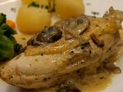 Kura na smotane - recept na kurča na smotane s brokolicou a zemiakmi