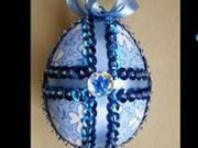 Velikonoční vajíčko - zdobení vajíčka z polystyrénu