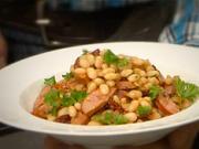 Strukoviny - recept na fazulky so sušenými paradajkami, klobasou a petržlenom