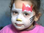 Hello Kitty - make up pre deti - ako urobiť make-up Hello Kitty