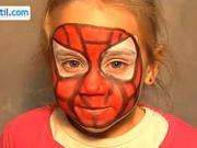 Spiderman - make up pre deti - ako urobiť make-up Spiderman