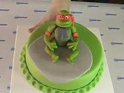 Ninja korytnačky - ako ozdobiť tortu s Ninja korytnačkou