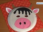 Maska pre deti - kravička