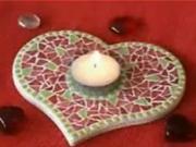 Svietnik z mozaiky - ako vyrobiť svietnik z mozaiky