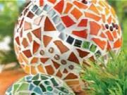 Guľa z mozaiky - ako vyrobiť dekoráciu z mozaiky