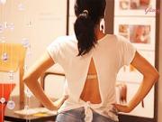 Prerábka trička - otvorený chrbát