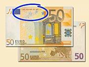 50 EUR - Ako rozpoznať ochranné prvky 50 € bankoviek - Ako rozpoznať falošné bankovky