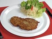 Rezeň v cestíčku - recept na bravčové mäso v zemiakovom cestíčku - černohorský rezeň