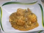 Zeleninový guláš - recept na květák s houbami a papriku