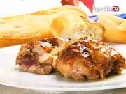Plnené kuracie rezne - recept na kuracie rezne plnené hroznom a vlašskými orechmi