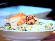 Caesar šalát s krevetou - recept na Caesar šalát
