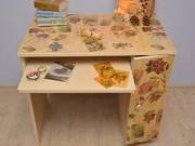 Decoupage stola - ako urobiť decoupage stola v retro štýle