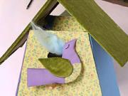 Decoupage búdky pre vtáky - ako urobiť látkovú dekupáž vtačej budky