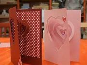 Valentínska 3D pohľadnica