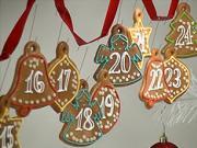 Adventný kalendár z perníkov  - ako urobiť perníkový adventný kalendár -vykrajovánka