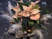 Vianočná dekorácia - ako urobiť vianočnú ikebanu