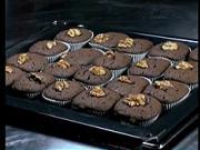 Čokoladové koláčiky - recept na čokoládové koláčiky s orechami