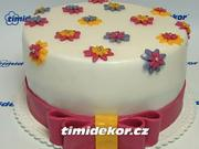 Mašľa na torte - vyroba mašle na boku torty