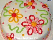 Kvetinová torta - ako vyzdobiť tortu